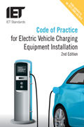 Cover of IET CoP for EV charging installations, 2nd Edition